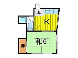 サニーコーポ藤生[2階]の間取り