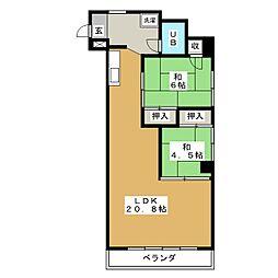奈良マンション[4階]の間取り