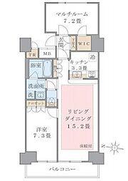 Brillia ist 東雲キャナルコート 11階2SLDKの間取り