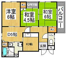 忍ケ丘マンション[4階]の間取り