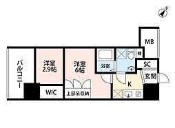 セレニテ福島scelto(シェルト)[13階]の間取り