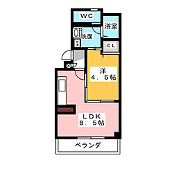 サンパークトーワ[2階]の間取り