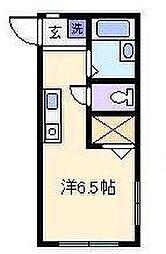 神奈川県横浜市神奈川区新子安2丁目の賃貸アパートの間取り