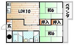 コーポラス大田[2階]の間取り