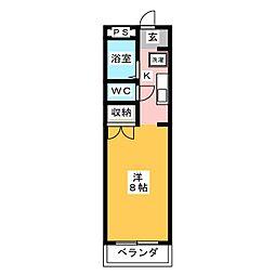 ワタナベマンション[3階]の間取り