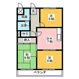 アクシア泊[3階]の間取り