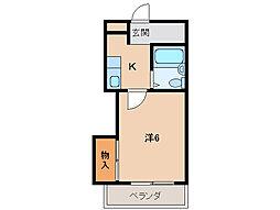 ホワイトハウス1号館[2階]の間取り