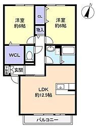 千葉県船橋市新高根4丁目の賃貸アパートの間取り