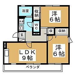 ハイカムール八乙女ST−I[2階]の間取り
