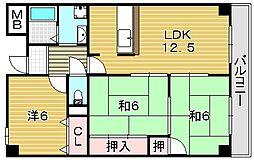 エスペランザ(吹田)[3階]の間取り