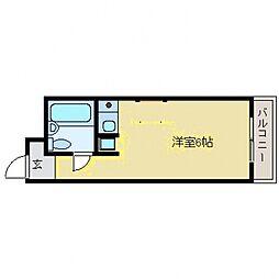 リモージュ岡本[5階]の間取り