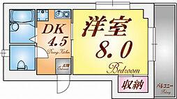 兵庫県神戸市須磨区天神町5丁目の賃貸マンションの間取り