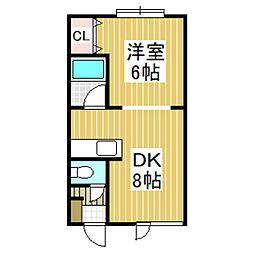 アパートメントプロム美園[2-C号室]の間取り