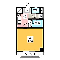 シャトー横山弐番館[5階]の間取り