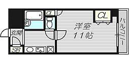 パシフィック九条駅前[6階]の間取り
