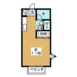 リバーサイドラベンダー[1階]の間取り