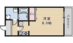 レグルス阿倍野[4階]の間取り