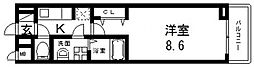 サニーレジデンス稲田本町[102号室号室]の間取り