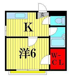 キワパインプラザ[2階]の間取り