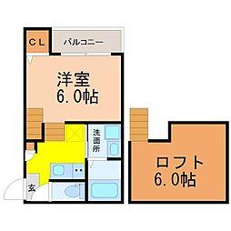 ディアコート浄心[2階]の間取り