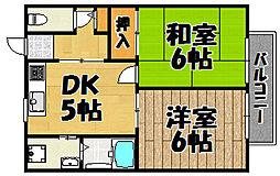 [テラスハウス] 兵庫県川西市新田3丁目 の賃貸【兵庫県 / 川西市】の間取り
