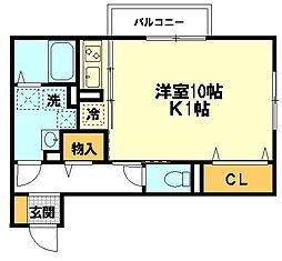 リヴェ−ル[2階]の間取り