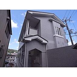 奈良県生駒市東松ケ丘の賃貸アパートの外観