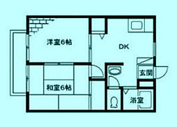 神奈川県川崎市宮前区野川の賃貸アパートの間取り