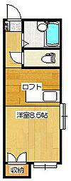 ロイヤルヒルズ桜ヶ丘[110号室]の間取り