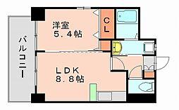 シティライフ博多駅南[6階]の間取り