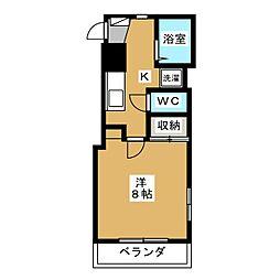 ル・レーブ紫野[3階]の間取り