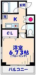 ヤサカハイム市川[701号室]の間取り