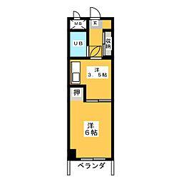 丸の内東桜ビル[6階]の間取り