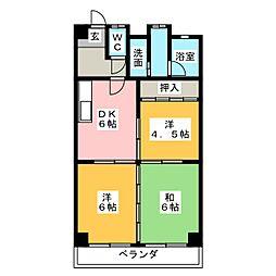 パークサイド藤[2階]の間取り