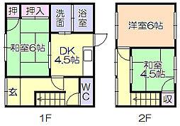 [一戸建] 福岡県久留米市荒木町荒木 の賃貸【/】の間取り