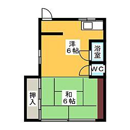 高取ビル[3階]の間取り