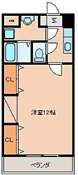 ソレイユII[502号室]の間取り