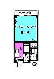 Siriusu Ayase II[1階]の間取り
