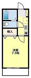 愛知県豊田市東梅坪町6丁目の賃貸アパートの間取り
