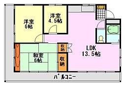 峰正ハイツ(ホウショウハイツ)[2階]の間取り