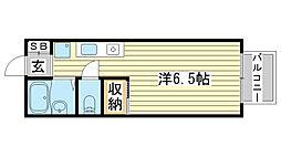 リアンジュ宇佐崎[206号室]の間取り