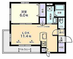 Courtyard武蔵野公園West[2階]の間取り