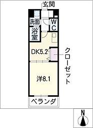エスポワール春日井[2階]の間取り