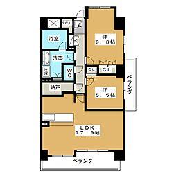グランマスト白壁[4階]の間取り