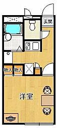 レオパレス甲子園高潮町2[203号室]の間取り