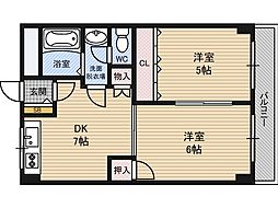 第6高光マンション[3階]の間取り