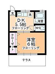 おくとみ荘[112号室]の間取り