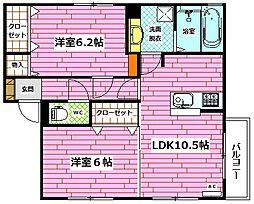 Droom相田4丁目[202号室]の間取り
