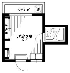 フラットサン[2階]の間取り