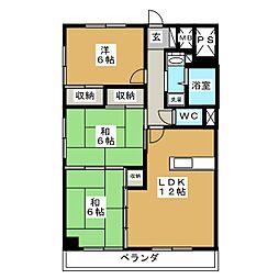 二日町島田ビル[6階]の間取り